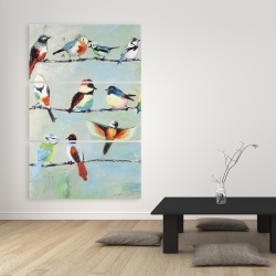 Canvas 40 x 60 - Small abstract colorful birds