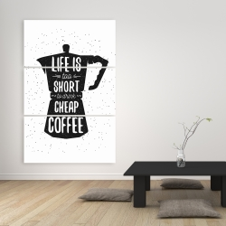 Canvas 40 x 60 - Life and coffee