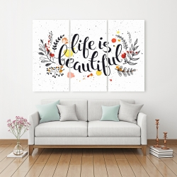 Canvas 40 x 60 - Life is beautiful