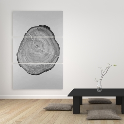 Canvas 40 x 60 - Grayscale wood log