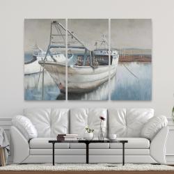 Canvas 40 x 60 - Fishing boat desatured