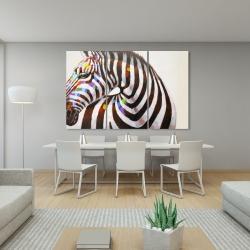 Canvas 40 x 60 - Colorful zebra