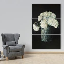 Canvas 40 x 60 - White hydrangea flowers