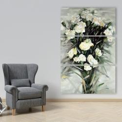 Canvas 40 x 60 - Lisianthus white bouquet
