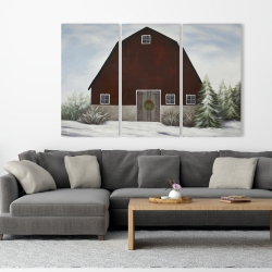 Canvas 40 x 60 - It's winter on the farm
