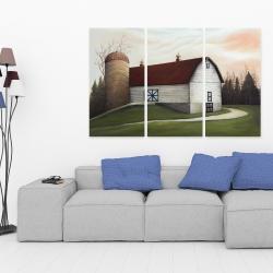 Canvas 40 x 60 - White barn view