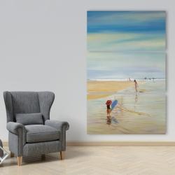Canvas 40 x 60 - Children at the beach
