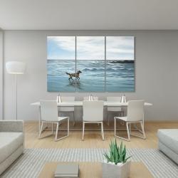 Canvas 40 x 60 - Dog on the beach