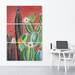 Canvas 40 x 60 - Rainbow cactus