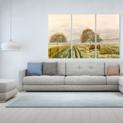 Canvas 40 x 60 - Sweet morning in the countryside