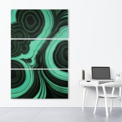 Canvas 40 x 60 - Malachite stone