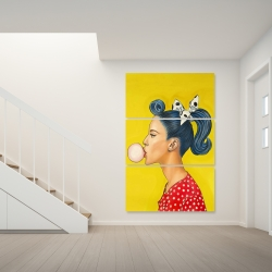 Canvas 40 x 60 - Retro woman with beautiful ponytail
