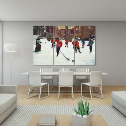 Canvas 40 x 60 - Young hockey players