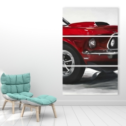 Canvas 40 x 60 - Classic red car