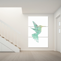 Canvas 40 x 60 - Geometric hummingbird