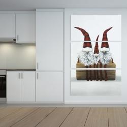 Canvas 40 x 60 - Three christmas gnomes