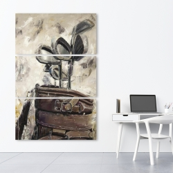 Canvas 40 x 60 - Vintage sticks and golf bag