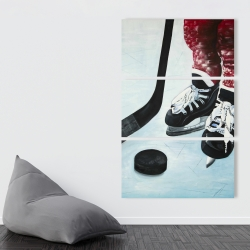 Canvas 40 x 60 - Young hockey player