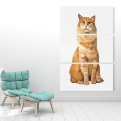 Canvas 40 x 60 - Ginger cat
