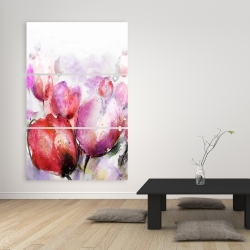 Canvas 40 x 60 - Abstract blurry tulips