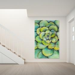 Canvas 40 x 60 - Watercolor succulent plant