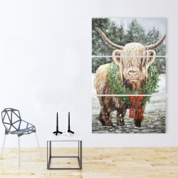 Canvas 40 x 60 - Highland christmas cow