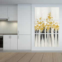 Canvas 40 x 60 - Abstract gold flowers
