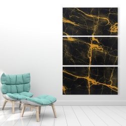 Canvas 40 x 60 - Black and gold marble texture
