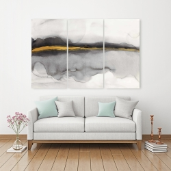 Canvas 40 x 60 - Gold stripe abstract