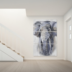 Canvas 40 x 60 - Pastel blue elephant