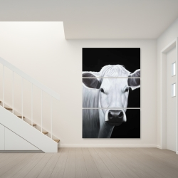 Canvas 40 x 60 - White cow