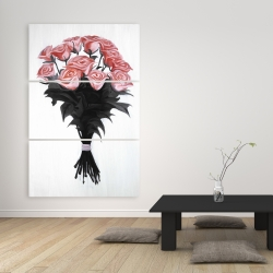Canvas 40 x 60 - Bouquet of coral roses