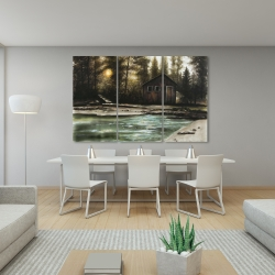 Canvas 40 x 60 - Cabin in the forest