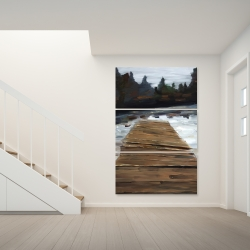 Canvas 40 x 60 - Dock and lake