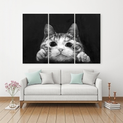 Canvas 40 x 60 - Curious cat