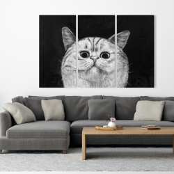 Canvas 40 x 60 - Watching cat