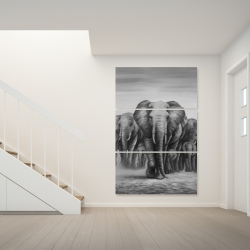 Canvas 40 x 60 - Herd of elephants