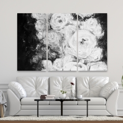 Canvas 40 x 60 - Monochrome rose garden