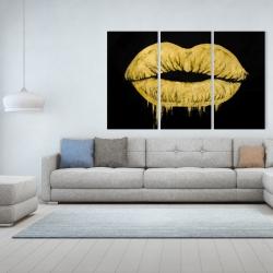 Canvas 40 x 60 - Golden lips