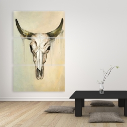 Canvas 40 x 60 - Color fading bull skull