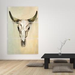 Canvas 40 x 60 - Color fading bull skull