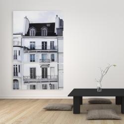 Canvas 40 x 60 - Buildings along the seine river
