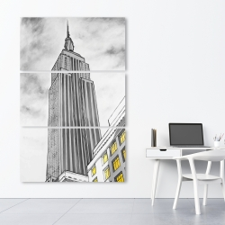 Canvas 40 x 60 - Outline of empire state building