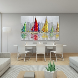 Canvas 40 x 60 - Sailboats in the wind