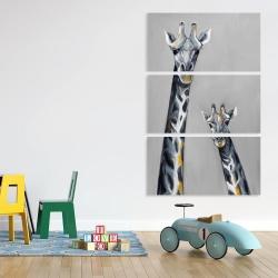 Canvas 40 x 60 - Steel blue giraffe