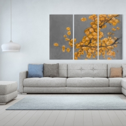 Canvas 40 x 60 - Golden wattle plant with pugg ball flowers