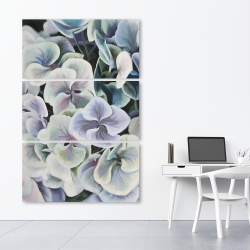 Canvas 40 x 60 - Colorful hydrangea flowers