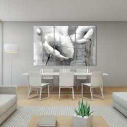 Canvas 40 x 60 - Industrial monochrome flowers