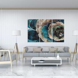 Canvas 40 x 60 - Blue flower montage