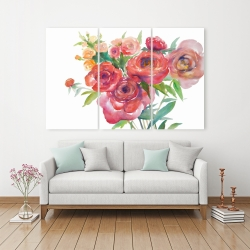 Canvas 40 x 60 - Watercolor bouquet of flowers